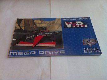 Megadrive Manual: Virtua Racing V.R. (Svensk/Engelsk)