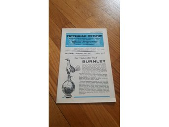 Program Tottenham Hotspur v Burnley 62-63