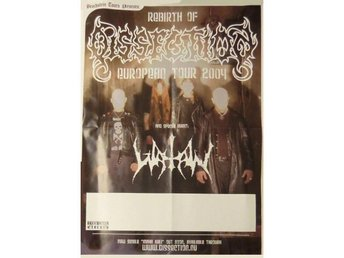 Dissection -Rebirth of Dissection 2004 tour poster w/ Watain
