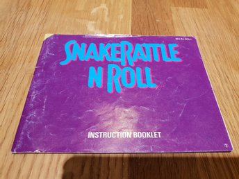 Snakerattle N Roll SCN Manual Nintendo 8-bit NES