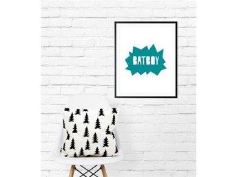 A4 Poster Print, Batman, Superhjälte, superhero, barninredning, barntavla. - Asmundtorp - A4 Poster Print, Batman, Superhjälte, superhero, barninredning, barntavla. - Asmundtorp
