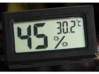 Mini Digital LCD Temperature Humidity Meter - Mellansel - Mini Digital LCD Temperature Humidity Meter - Mellansel