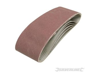Silverline Sanding Belts 75 x 533mm 5pk 40 Grit belt sander