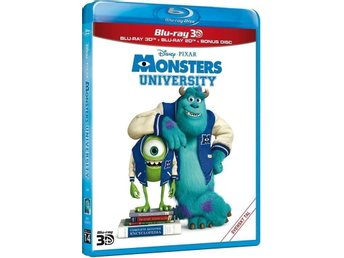 MONSTERS UNIVERSITY. NY OCH INPLASTAD PÅ BLU-RAY 3D + BLU-RAY