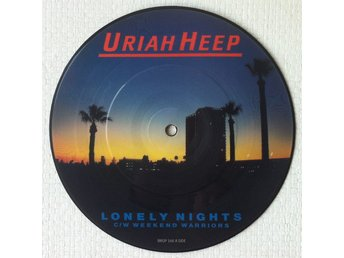 URIAH HEEP 'Lonely Nights' 1983 UK picture-disc 7""