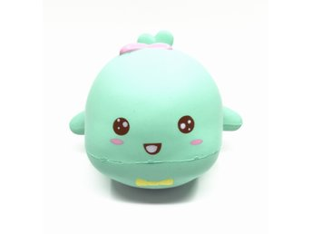 Original little tiger whale squishy green colour soft slow rising toys scent