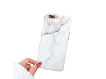 iPhone 7 8 Plus Mobilskal Vit Marmor White Marble