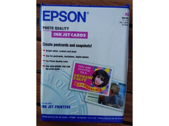 Epson Photo Quality Ink Jet Cards A6 50-pack S041054 (NY INPLASTAD)