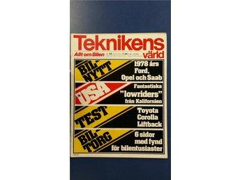 Teknikens Värld 18 1977: Toyota Corolla Liftback, VW Derby, Granada/Rekord -78 - Uppsala - Teknikens Värld 18 1977: Toyota Corolla Liftback, VW Derby, Granada/Rekord -78 - Uppsala