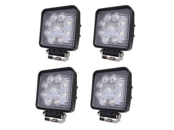 4st 27w LED Extraljus/Backljus/Arbetsbelysning Flood 2150LM