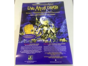 IRON MAIDEN LIVE AFTER DEATH POSTER