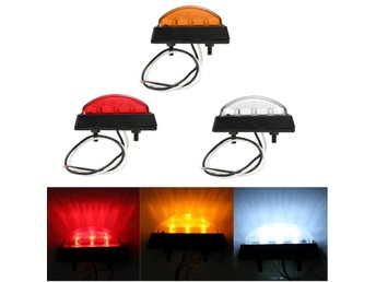 6 LED Side Marker Light Indicator Lamp Bus Truck Trailer ...