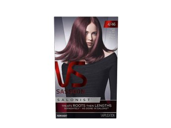 Sassoon Salonist - hårfärg - dark red violet - 4/46 - 3 st