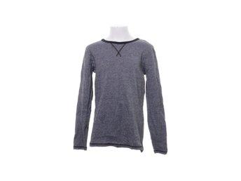 H&M Basic, Långärmad T shirt, Strl: 146152, Grå, Bomull