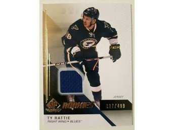 2014-15 SP Game Used Gold Jerseys #123 Ty Rattie /499 - St Louis Blues - Linköping - 2014-15 SP Game Used Gold Jerseys #123 Ty Rattie /499 - St Louis Blues - Linköping