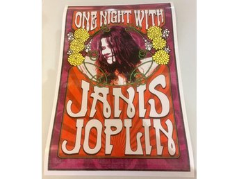 JANIS JOPLIN ONE NIGHT WITH POSTER