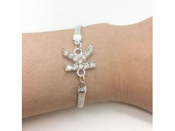 Jewelry Fashion Rhinestone Bracelet plated Silver Chain Letter K