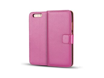 Huawei P10 genuine split leather flip case - Rose
