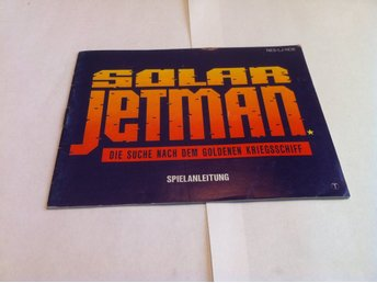 NES: Manualer: Solar Jetman (End. manual -Tysk)