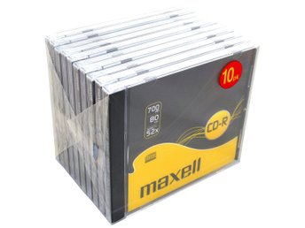 Maxell CD-R 52x 80min 10-p JewelCase