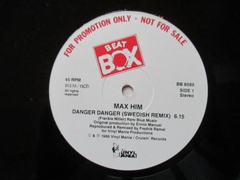 "Beat Box promo 12"" maxi: MAX HIM - DANGER DANGER (Swedish Remix)"
