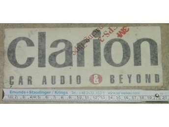 2 Klistermärken Clarion car audio & beyond