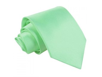 Mint grön satin slips _ Regular