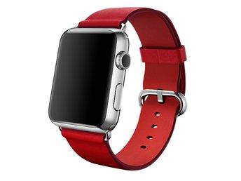 Javascript är inaktiverat. - Ljungby - Klassiskt Spänne till Apple Watch 42 mm. Klassisk design i läder med spänne i rostfritt stål. Det här armbandet med sin klassiska design tillverkas av läder som åldras naturligt och med tiden får en vacker patina. Färg: Red Storlek: 42  - Ljungby