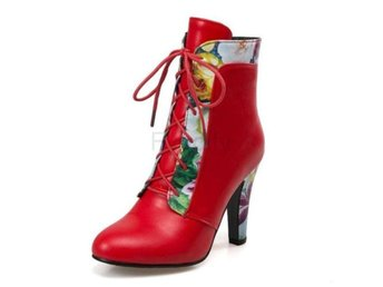 Dam Boots Snow Ankle Boots Ladies Daily Footwear Red 42