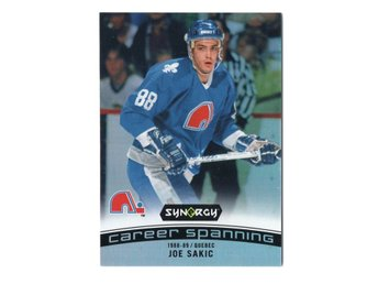 17-18 Upper Deck Synergy Career Spanning Joe Sakic