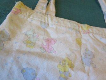 Supersöt tygpåse med björnar - Pastell väska sweet lolita kawaii fairy kei - Farsta - Supersöt tygpåse med björnar - Pastell väska sweet lolita kawaii fairy kei - Farsta