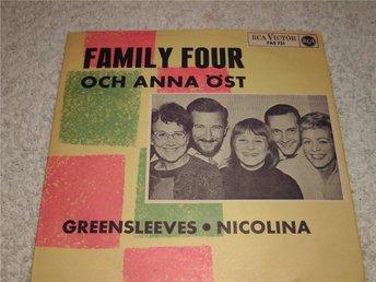 FAMILY FOUR och Anna Öst! Nicolina! Mycket fint skick! - älvsjö - FAMILY FOUR och Anna Öst! Nicolina! Mycket fint skick! - älvsjö