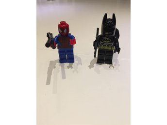 Lego figur, Spiderman och Batman