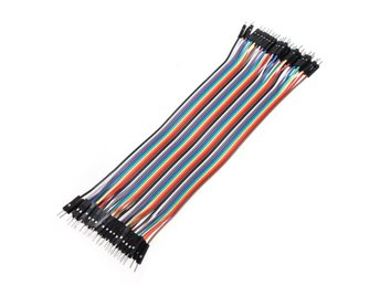 40pcs 20cm Male To Male Color Breadboard Cable Jumper Cab...