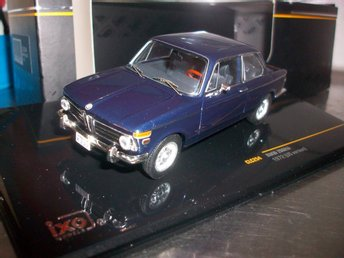 BMW 2002 tii 1972 USA-versionen mörkblå 1:43, MINT!
