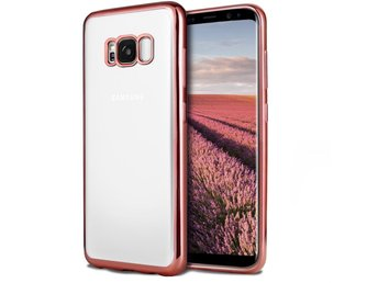 Transparent TPU skal  -  Galaxy S7 edge - Bumper Rosa