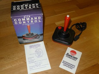 WICO Bat Handle Joystick - VINTAGE Sega/Atari/Commodore - Som ny!