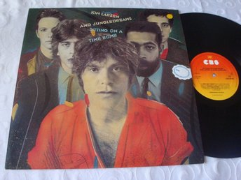 KIM LARSEN AND JUNGLEDREAMS - SITTING...LP 1983