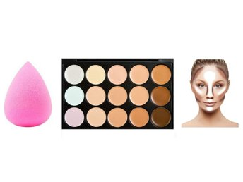 Mindful Care - Contour Cream Kit + Makeup sponge
