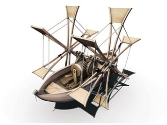 Italeri LEONARDO DA VINCI COLLECTION: PADDLE SHIP