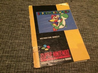 Supernintendo, SNES***Manual***Super Mario World***