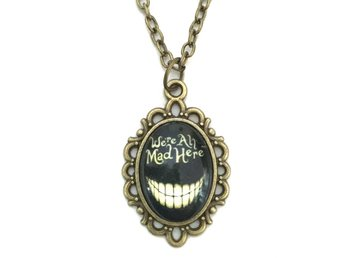 Halsband We´re all mad here - Alice I Underlandet Brons