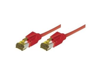 EXC Patch Cord RJ45 CAT.7 S/FTP Copper LSZH (Halogenfri) Snagless Red 1m