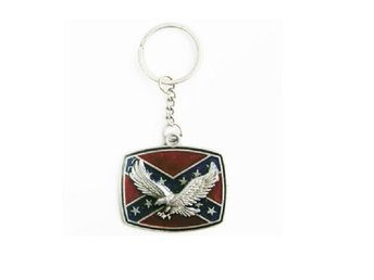 Eagle Rebel Flag Nyckelring.