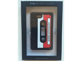 Kassett mix tape äkta MARC JACOBS iPhone 5 silikon skal case svart/vit ~ 450kr