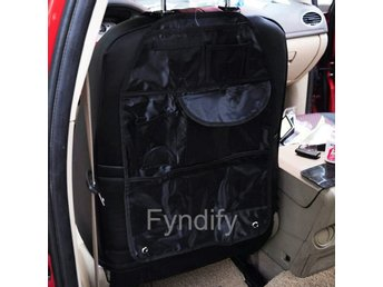 Car Back Seat Protector Multi-Pocket Organizer Storage Bag Svart