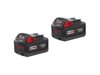 2st nya Milwaukee 48-11-1828 (M18 BX), 18V 3Ah Red Lithium XC Batterier
