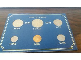 Coins of Sweden 1978 mynt serie