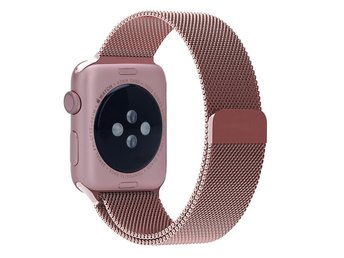 Apple Watch Stainless Steel Milanese Loop Armband - Rose