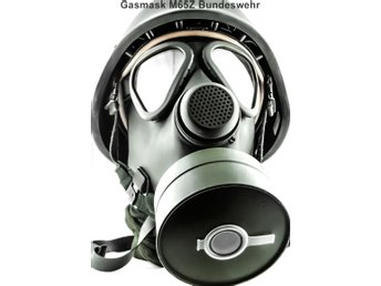 Gasmask M-65Z Bundeswehr [Stl:2] Med Väska & Filter - German Defense Force NATO
